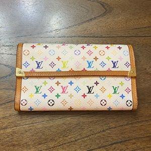 🌈 Multicolored Luis Vuitton large wallet